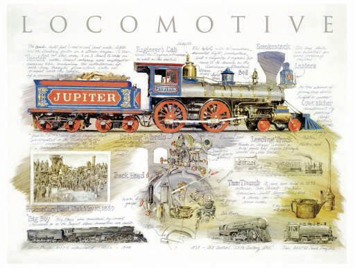 Locomotive - 500 piece SunsOut puzzle - for Ages 12+