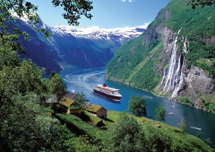 Norwegian Fjord - 1,000 piece Ravensburger puzzle - for Ages 12+