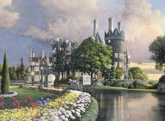 Tranquil Castle - 1,000 piece Ravensburger puzzle - for Ages 12+