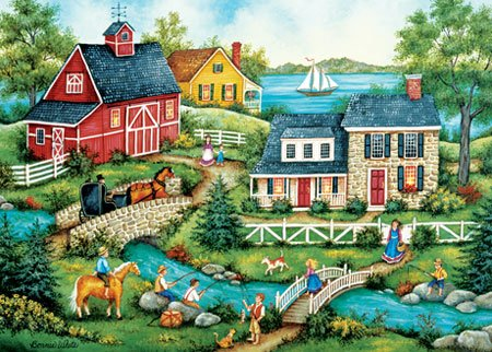 Fishing for Dinner - 500 piece MasterPieces jigsaw puzzle - for Ages 12+