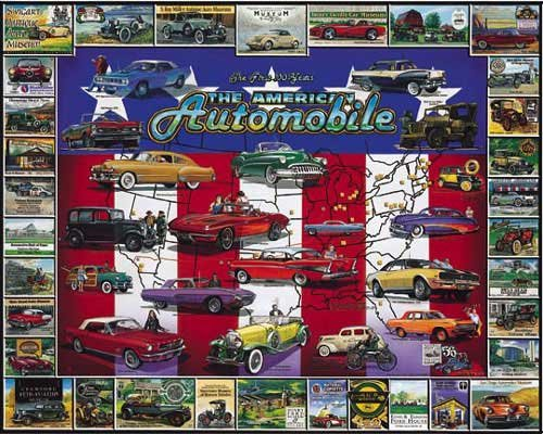 The American Automobile - 1,000 piece White Mountain puzzle - for Ages 12+