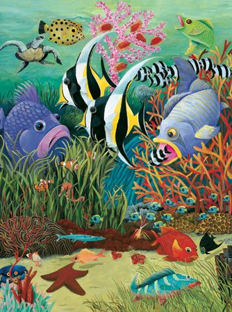 Fish in the Sea - 300 Large Piece White Mountain puzzle - for Ages 12+