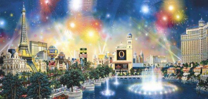 City of Lights - Las Vegas - 1,000 piece SunsOut puzzle - for Ages 12+