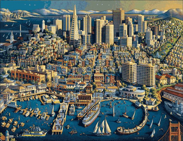 San Francisco - 500 piece MasterPieces jigsaw puzzle - for Ages 12+
