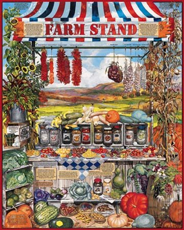 Farm Stand  - 1,000 piece White Mountain puzzle - for Ages 12+