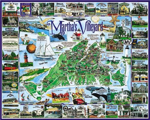 Martha's Vineyard  - 1,000 piece White Mountain puzzle - for Ages 12+