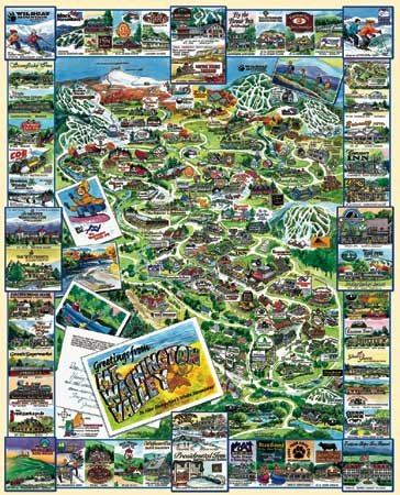 Mt. Washington Valley, New Hampshire- 1,000 piece White Mountain puzzle - for Ages 12+