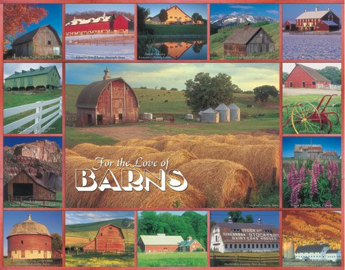 For The Love Of Barns - 1,000 piece White Mountain puzzle - for Ages 12+