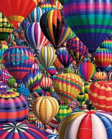 Hot Air Balloons - 1,000 piece White Mountain puzzle - for Ages 12+