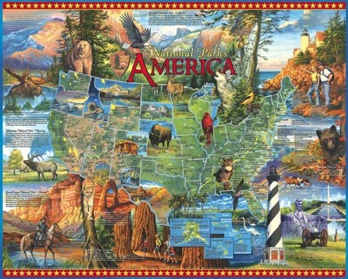 National Parks - 1,000 piece White Mountain puzzle - for Ages 12+