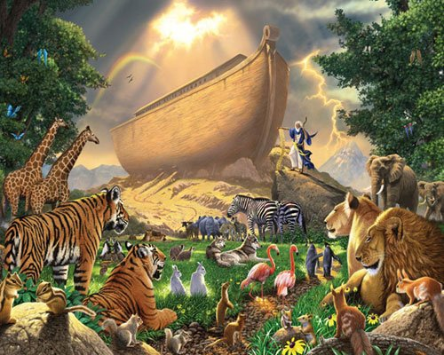 Noah's Ark - 1,000 piece White Mountain puzzle - for Ages 12+
