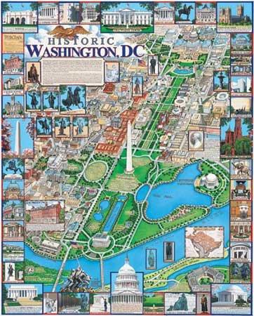 Historic Washington, D.C.  - 1,000 piece White Mountain puzzle - for Ages 12+