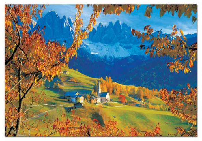 Autumn in Villnoss, The Dolomites, Italy - 4,000 piece Educa puzzle - for Ages 12+