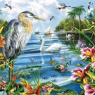 Blue Heron & Friends - 1,000 piece White Mountain puzzle - for Ages 12+