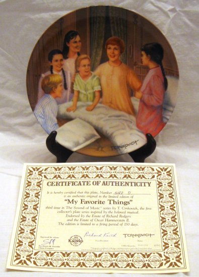 MY FAVORITE THINGS Sound of Music Collectors Plate