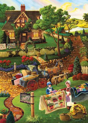 Country Fabrics - 1000 piece MasterPieces Mini puzzle - for Ages 12+