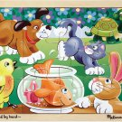 Playful Pets - 12 piece wooden Melissa & Doug jigsaw puzzle - Ages 3+