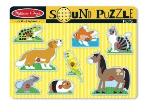 Pets Sound Puzzle - 8 piece Melissa & Doug peg puzzle - Ages 2+