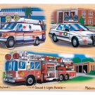 Emergency Vehicles Light & Sound Puzzle - 9 piece Melissa & Doug peg puzzle - Ages 3+