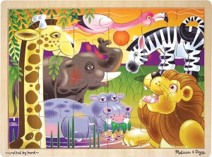 African Plains - 24 piece Melissa & Doug puzzle - Ages 3+