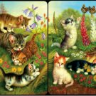 Cats in the Field - Bridge Playing Cards Double Deck - NEW