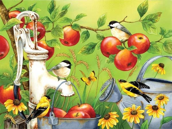 Among The Apples - 500 piece SunsOut puzzle - for Ages 12+