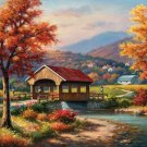 Covered Bridge in Fall - 500 piece SunsOut puzzle - for Ages 12+