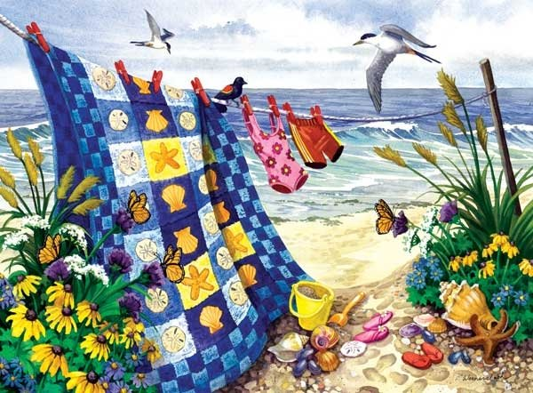Seaside Summer - 500 Large Piece SunsOut puzzle - for Ages 12+