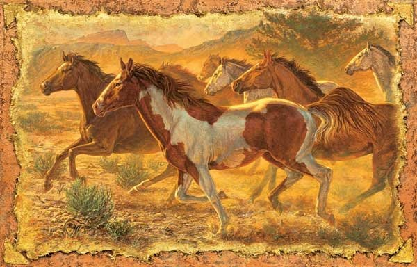 A Cloud of Dust - Horses - 550 piece SunsOut puzzle - for Ages 12+