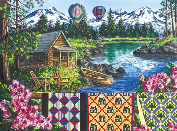 Floating Over Sisters - 100 piece SunsOut Mini puzzle