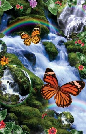 Butterfly Fairyland Falls - 1,000 piece SunsOut puzzle - for Ages 12+