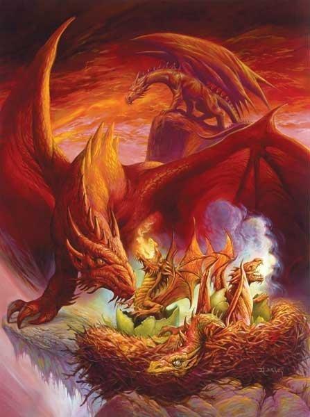 Hatchlings - Dragons - 1,000 piece SunsOut puzzle - for Ages 12+