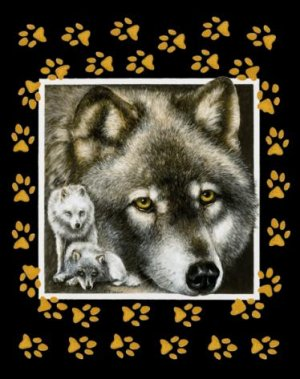 Wolf Too Close To Pause - 100 piece SunsOut Mini puzzle