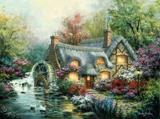 Cottage Mill - 1,000 piece SunsOut puzzle - for Ages 12+