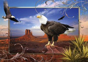 Majestic Eagle - 1,000 piece Ravensburger puzzle - for Ages 12+