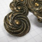 10 Large Copper Swirl Shank Buttons