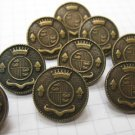 10 Copper Shank Buttons