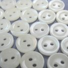 100 Small Round Cream Shirt Buttons