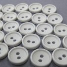 100 White Buttons
