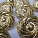 10 Medium Gold Swirl Shank Buttons