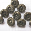 10 Small Copper Swirl Shank Buttons