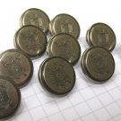 10 Small Pewter Hepton Buttons