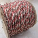 3 metres Red Brown Cream 3 Colour Twist 4mm Lacing Cord