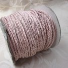 3 metres Pale Rose Pink 4mm Lacing Cord