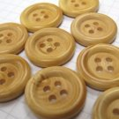 100 Medium Faux Wood Buttons