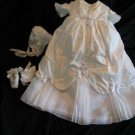Silk and Crystal Handmade Christening Baptismal Gowns XXS