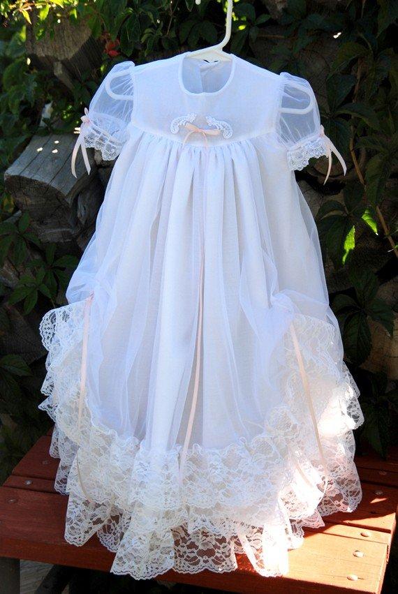 Jessica Handmade Christening Gown 0-3 Months