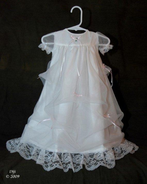 Elizabeth Handmade Christening Gown 0-3 Months