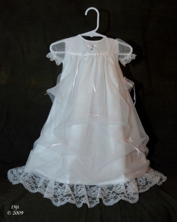 Elizabeth Handmade Christening Gown 3-6 Months