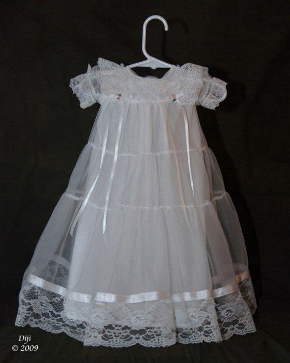 Lauren Handmade Christening Gown 0-3 Months